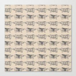Rhino Lines Canvas Print