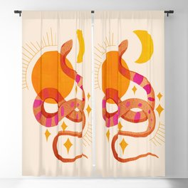 Abstraction_SUN_MOON_SNAKE_Minimalism_001 Blackout Curtain