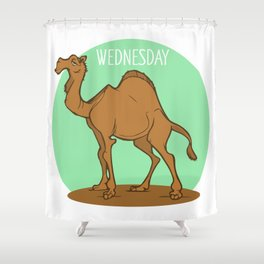 Wednesday Camel Shower Curtain