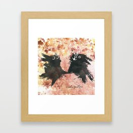 Rabbit, Rabbit! Framed Art Print