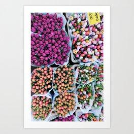 Riverside flower market Art Print