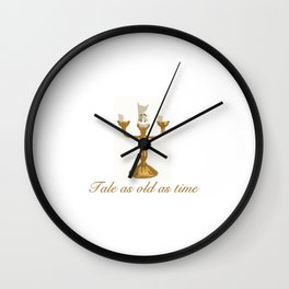 Cut out Candle Stick Wall Clock