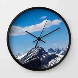 Dreamy Mountain Tops Wall Clock