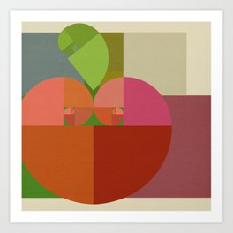Fibonacci Apple Art Print