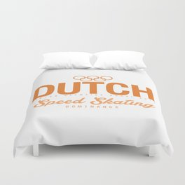 Dutch - Speed Skating Duvet Cover