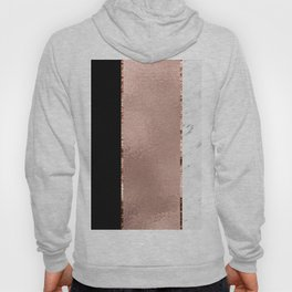 Rose metallic striping - marble and onyx Hoody