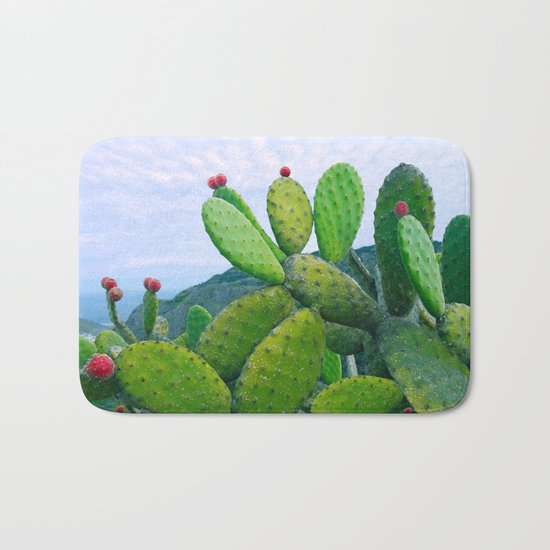 Blooming cacti Bath Mat