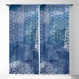 Shibori Lace Collage Blackout Curtain