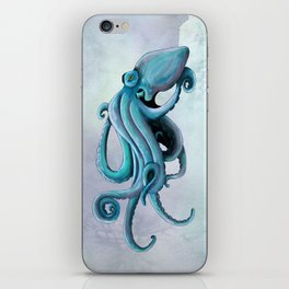 Floating octopus iPhone Skin
