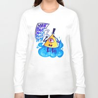 bill cipher Long Sleeve T-shirts featuring cipher. by Zombie Rufio