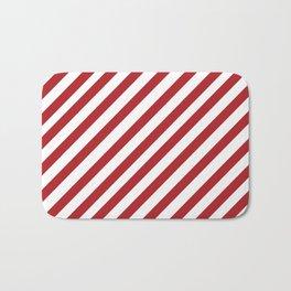 Candy Cane - Christmas Illustration Bath Mat