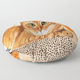 Orange Tabby Floor Pillow