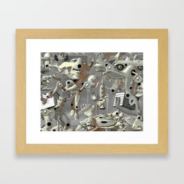 the weight of it all Framed Art Print