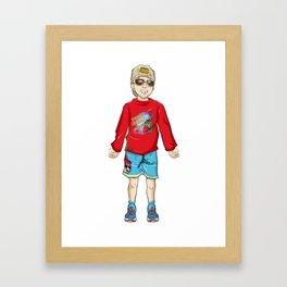 Grumpy Granny - Lambelet Framed Art Print
