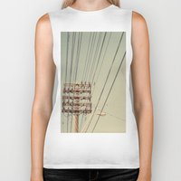 the wire Biker Tanks featuring wire by erinreidphoto
