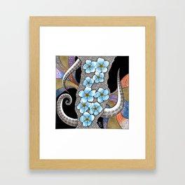 Forget Me Notopus Framed Art Print