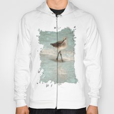 Bird Walking On The Beach Hoody