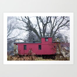 NW Caboose Art Print