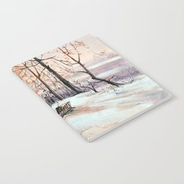 Sledging in the winter forest Notebook