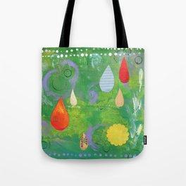 Pale Raindrops Tote Bag