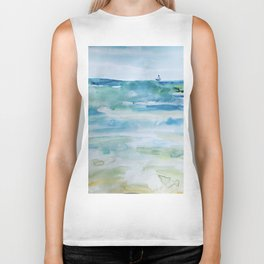 Miami Beach Watercolor #1 Biker Tank