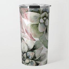 Circular Succulent Watercolor Travel Mug