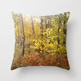 You Can Just Hear the Breeze Through the Trees  Throw Pillow