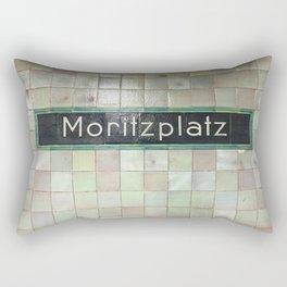 Berlin U-Bahn Memories - Moritzplatz Rectangular Pillow