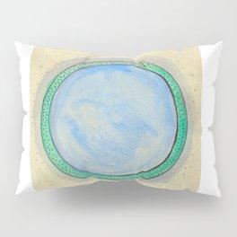Ouroboros and Blue Orb Pillow Sham