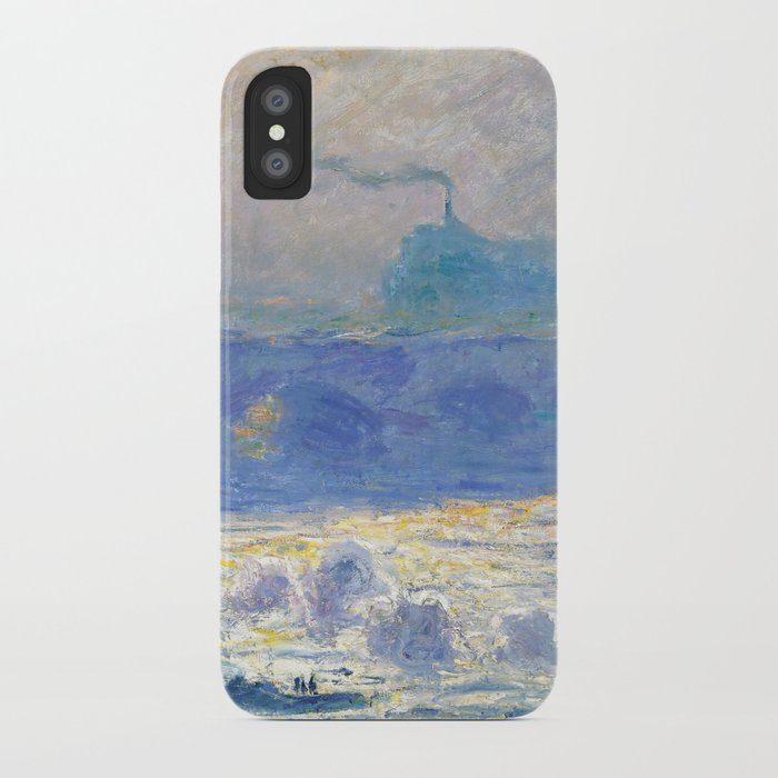 Waterloo Bridge Sunlight Effect By Claude Monet Iphone Case