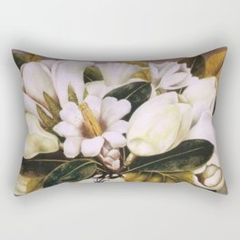 Magnolias Still Life by Frida Kahlo Rectangular Pillow