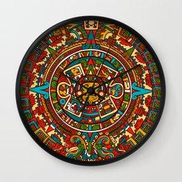 Aztec Mythology Calendar Wall Clock