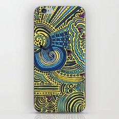 Drawing Meditation - Yellow iPhone & iPod Skin