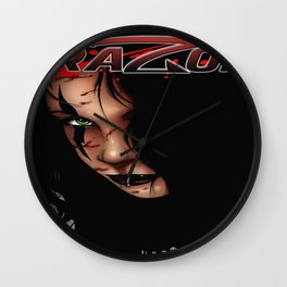 RAZOR face by Everette Hartsoe Wall Clock