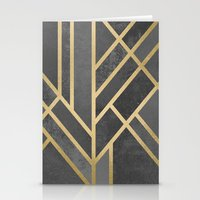 deco Stationery Cards featuring Art Deco Geometry 1 by Elisabeth Fredriksson