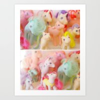 my little pony Art Prints featuring my little pony by lesley110688