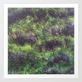 Field of Violets Series 3.1 Art Print