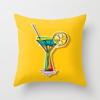 cocktail Throw Pillows featuring Cocktail by Rceeh