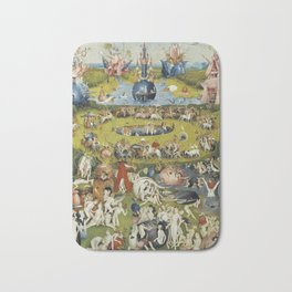 THE GARDEN OF EARTHLY DELIGHT - HEIRONYMUS BOSCH Bath Mat