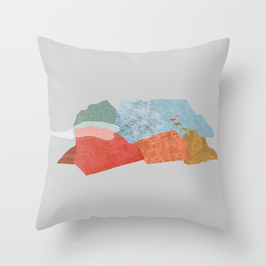 Birds Fly Away Throw Pillow