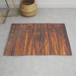Dark Vertical Wood Planks Wall Rug