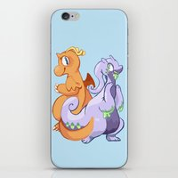 dragons iPhone & iPod Skins featuring Dragons by Rinnai-Rai