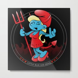 The Little Blue She-Devil Metal Print