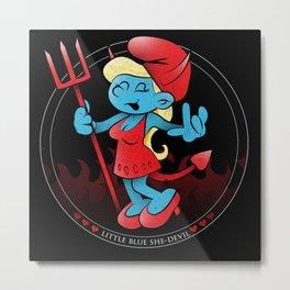 The Little Blue She-Devil Metal Print
