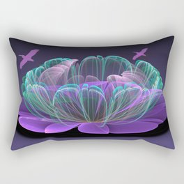 Water lily in a purple pond Rectangular Pillow