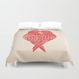 Love Birds (Red) Duvet Cover