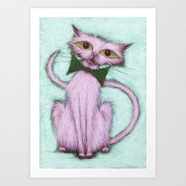 Hello nice cat Art Print