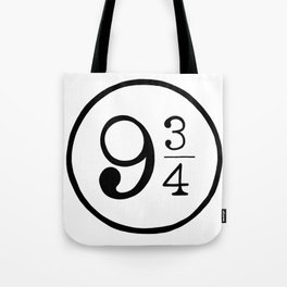 Platform 9 3/4 Nine And Three Quarters Tote Bag