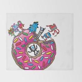 Skate Donut Throw Blanket