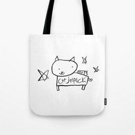Cat Jetpack Tote Bag